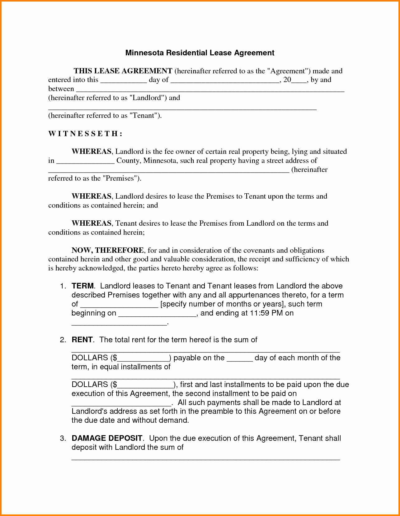 Basic Renters Agreement Template Beautiful 30 Basic Editable Rental Agreement form Templates Thogati