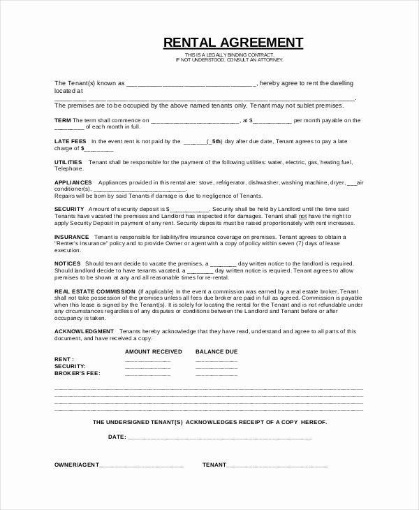Basic Renters Agreement Template Beautiful Simple Rental Agreement 33 Examples In Pdf Word