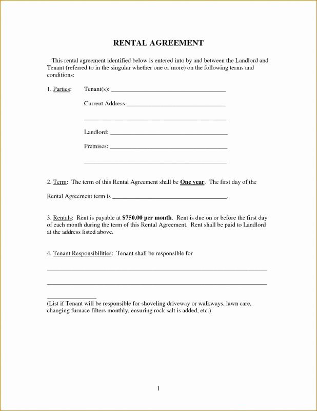 Basic Renters Agreement Template Best Of Free Printable Basic Rental Agreement