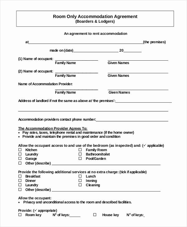 Basic Renters Agreement Template Fresh 44 Simple Rental Agreement Templates Pdf Word