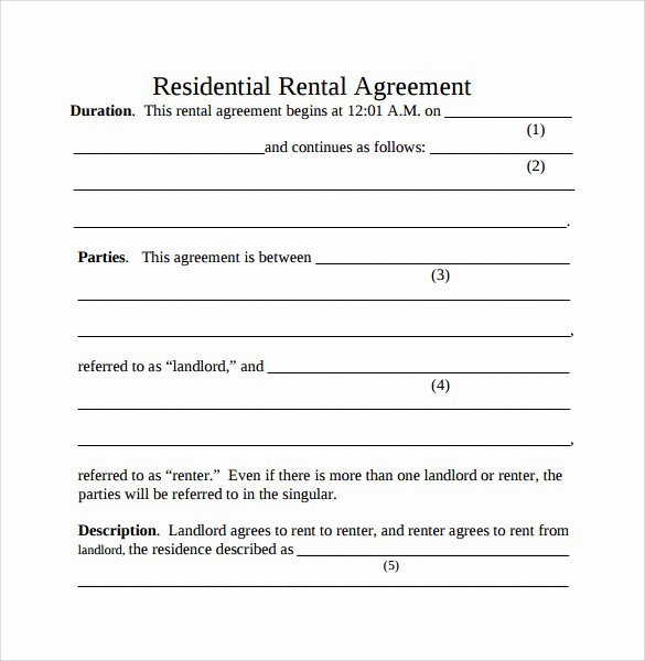Basic Renters Agreement Template Inspirational Simple Rental Agreement 9 Download Free Documents In