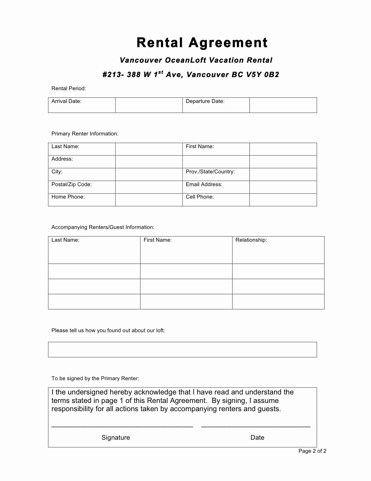 Basic Renters Agreement Template Lovely 30 Basic Editable Rental Agreement form Templates Thogati