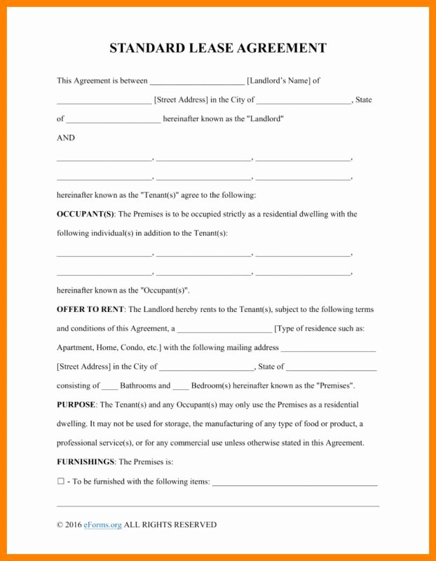 Basic Renters Agreement Template Lovely Basic Rental Agreement Fillable