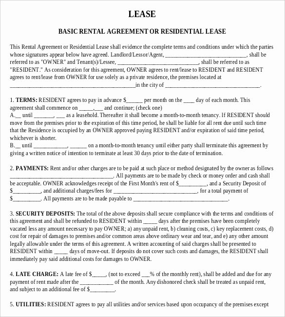 Basic Renters Agreement Template Luxury Rental Agreement Templates – 15 Free Word Pdf Documents