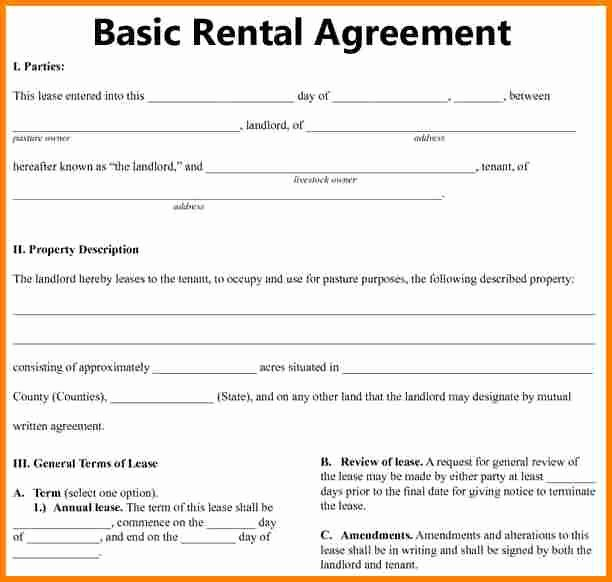 Basic Renters Agreement Template New 7 Simple Rental Agreement Template