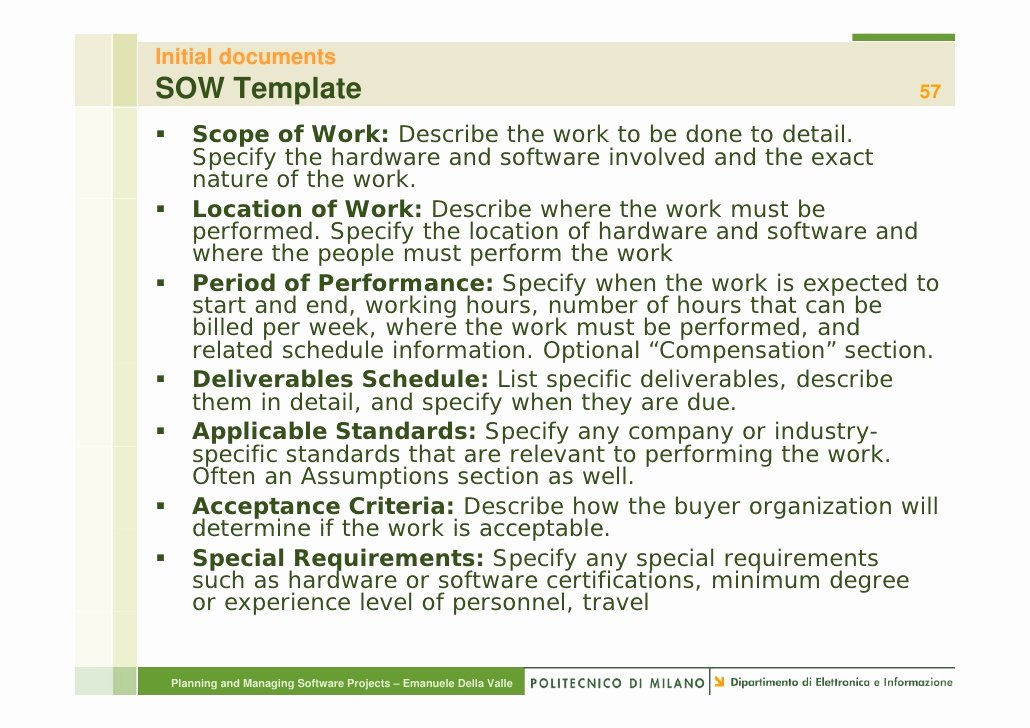 Basic Scope Of Work Template Awesome Overview Project Management P&msp2010 2 11