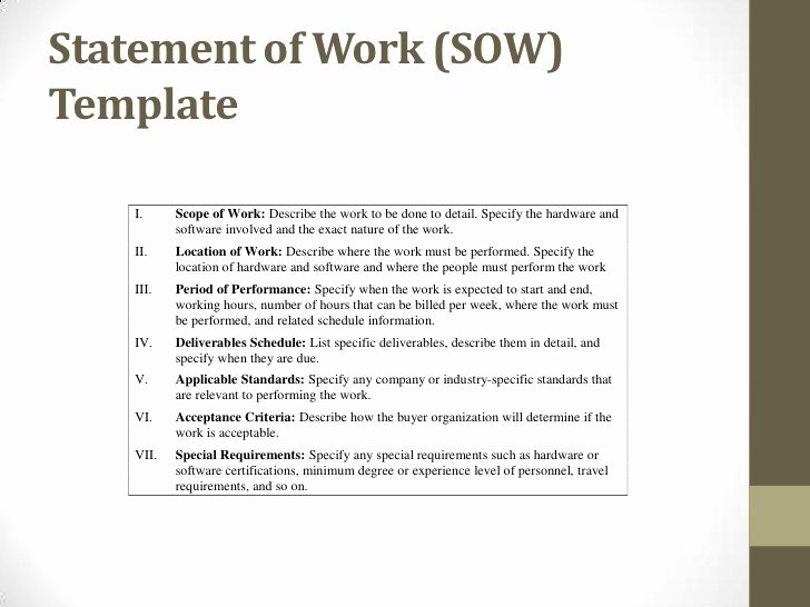 Basic Scope Of Work Template Awesome Procurement Ops450