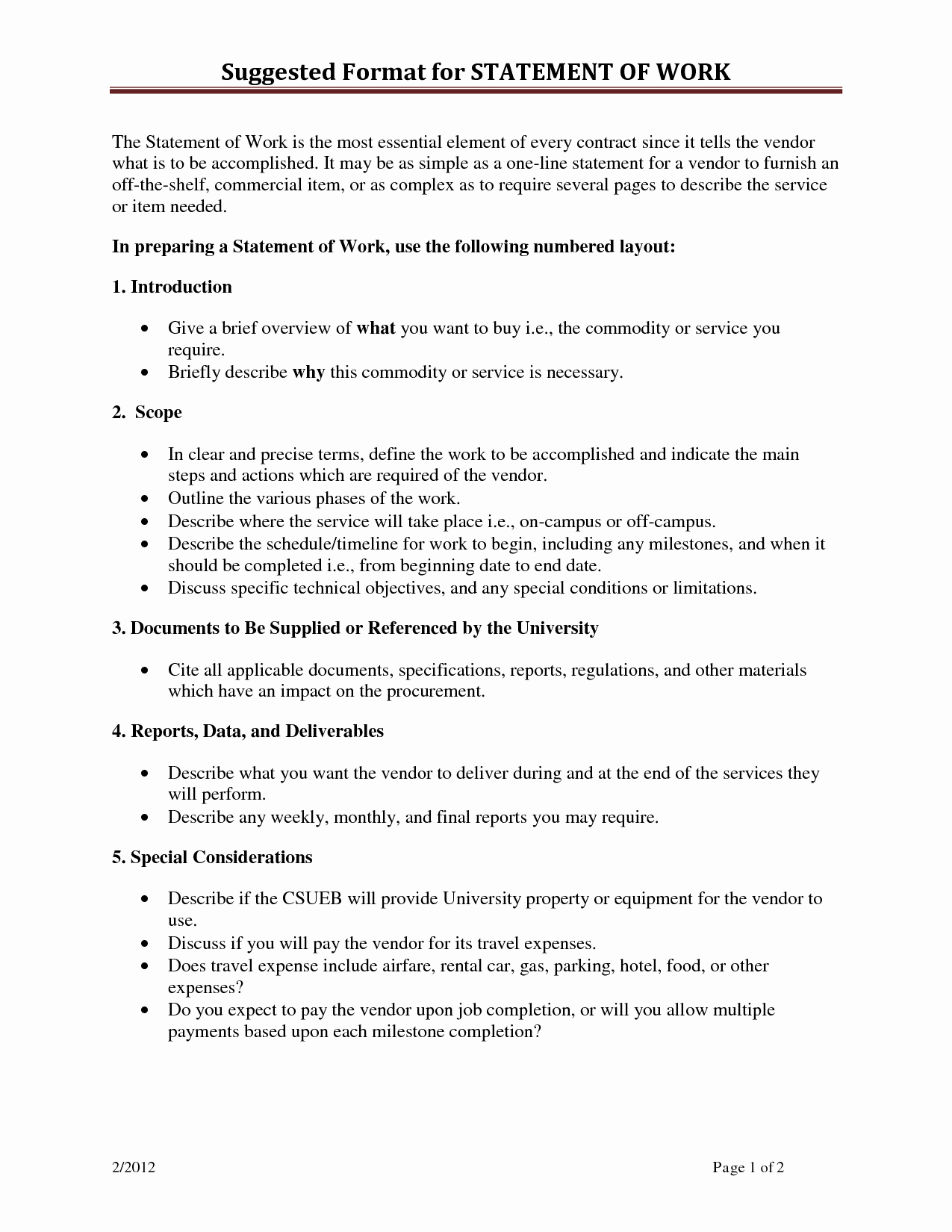 Basic Scope Of Work Template Best Of Statement Work Template