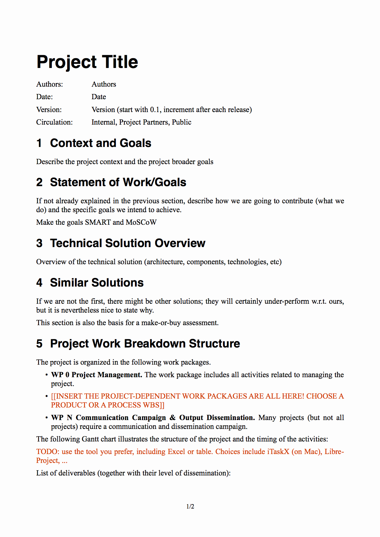 Basic Scope Of Work Template Elegant An Introduction to software Project Management