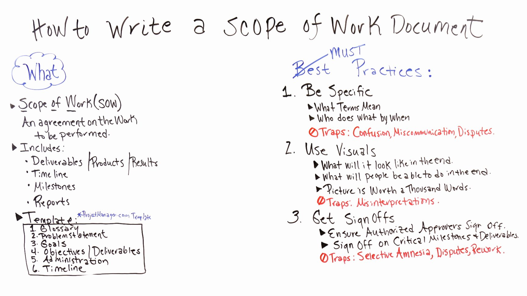 Basic Scope Of Work Template Elegant Project Manager Scope Work Template