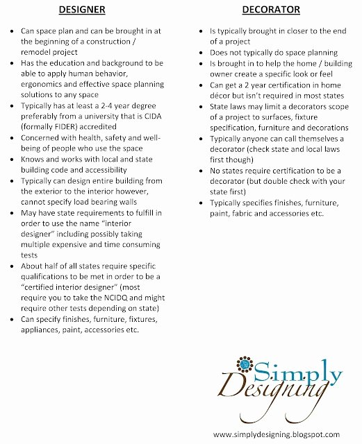 Basic Scope Of Work Template New Decorator Vs Designer What are the Main Similarities and