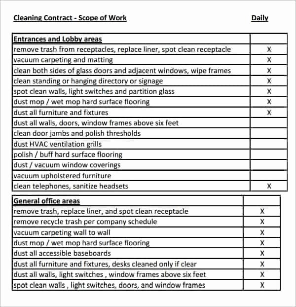 Basic Scope Of Work Template Unique 7 Construction Scope Of Work Templates Word Excel Pdf