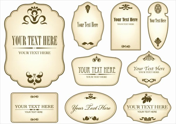 Beer Label Template Word Awesome 12 Vintage Bottle Label Templates Free Printable Psd