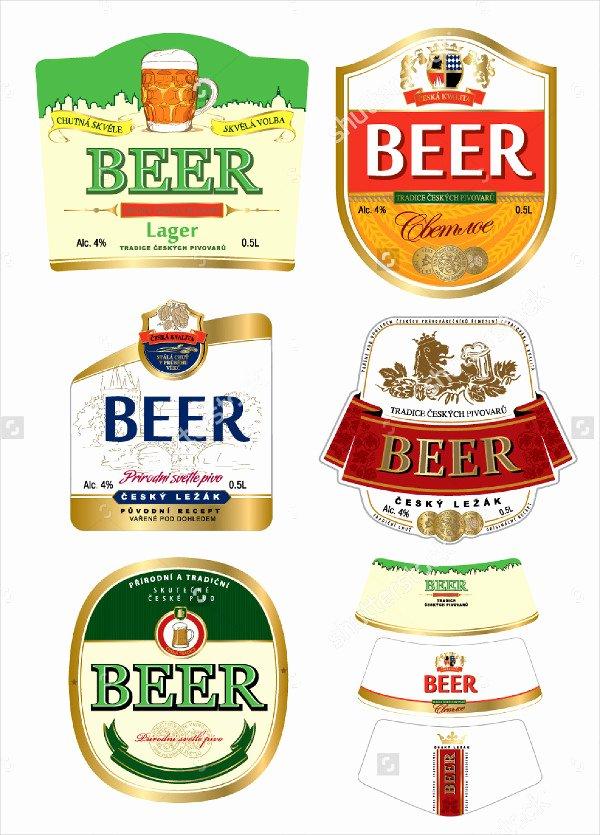 Beer Label Template Word Beautiful Printable Beer Label Template 195 Free & Premium Download