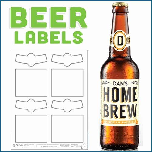 Beer Label Template Word Best Of Blank Beer Labels Water Resistant Peel F with Easy