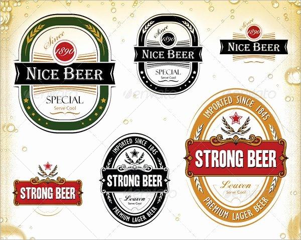 Beer Label Template Word Best Of Sample Beer Label Template 6 Premium Download