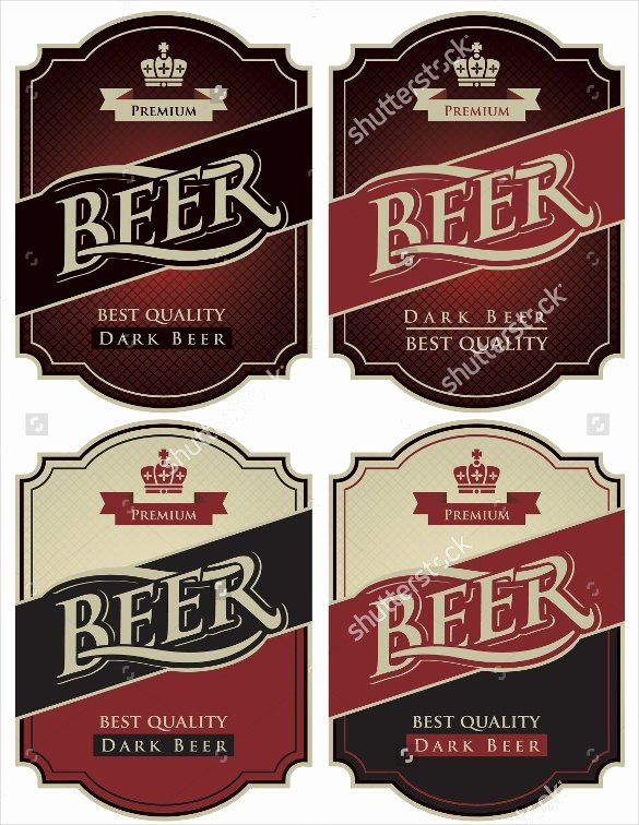 Beer Label Template Word Fresh 27 Beer Label Templates – Free Sample Example format