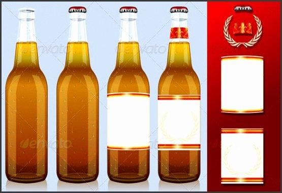 beer bottle label template word