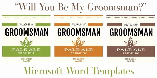 Beer Label Template Word Inspirational Free Microsoft Word Templates for Beer Bottles In 2019