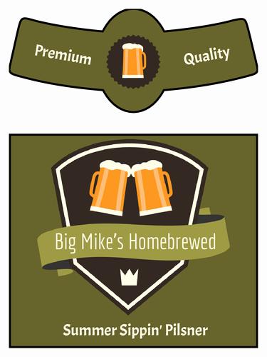 Beer Label Template Word Inspirational Simple Beer Bottle Label Template Neck Design