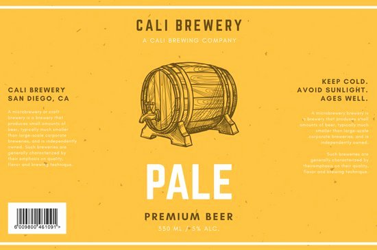 Beer Label Template Word Unique Customize 458 Label Templates Online Canva
