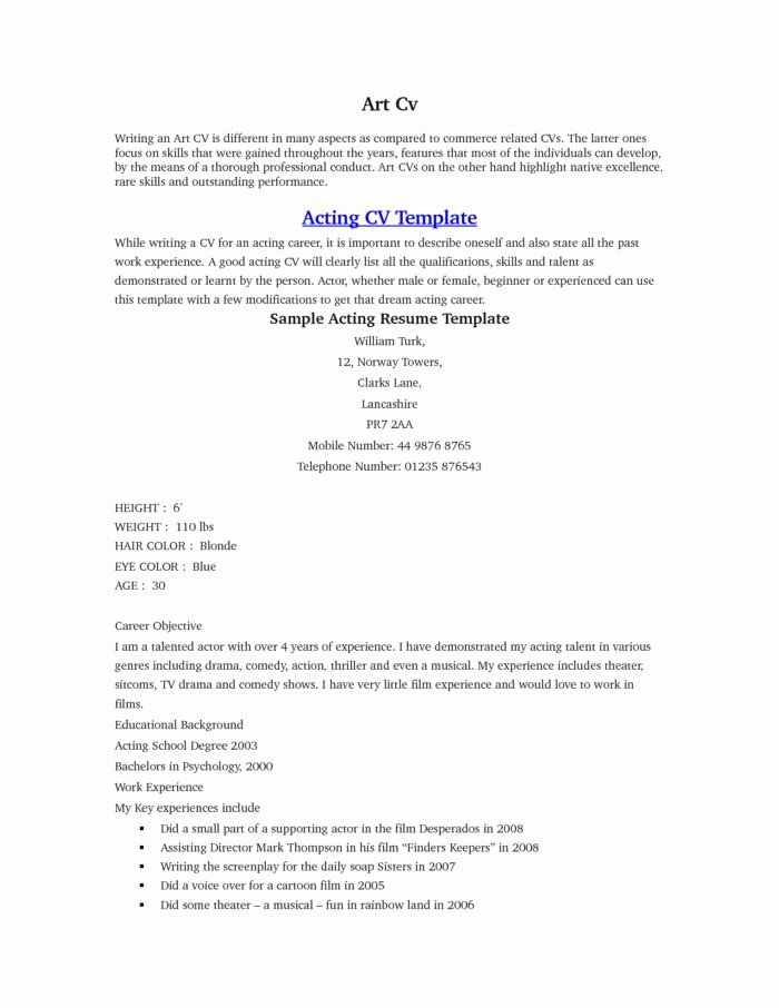 beginner actor cover letter examples