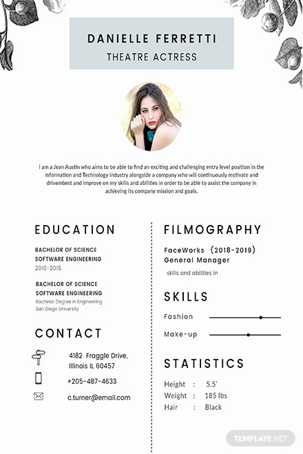 Beginner Acting Resume Template Inspirational Free Resume Templates Download Ready Made