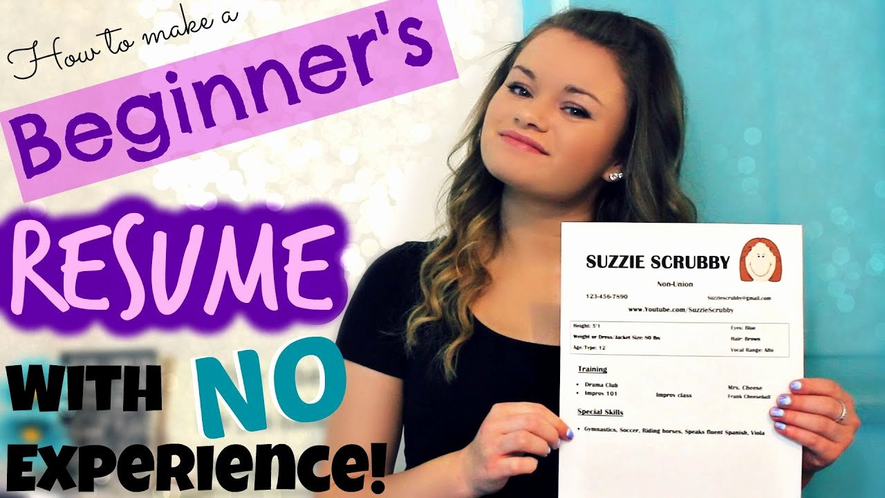 Beginner Acting Resume Template Lovely How to Make A Beginner S Acting Resume W No Experience