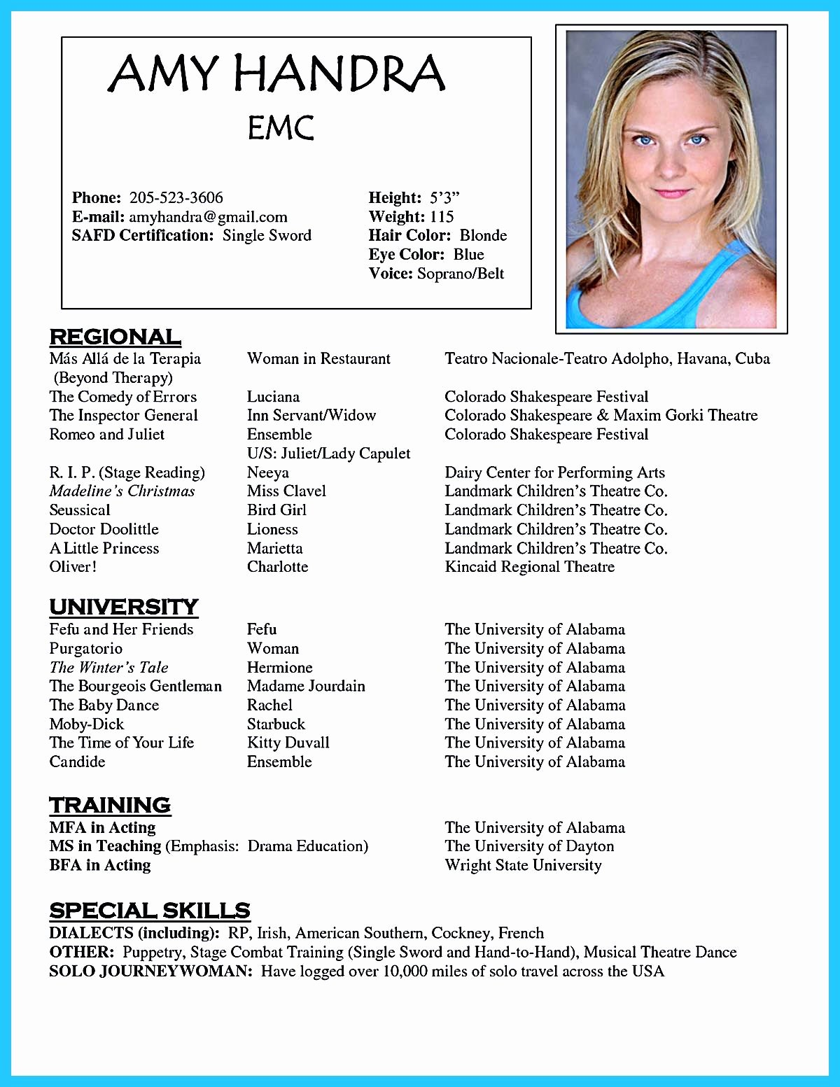 Beginner Actor Resume Template Awesome Acting Resume Template is Very Useful for You who are now