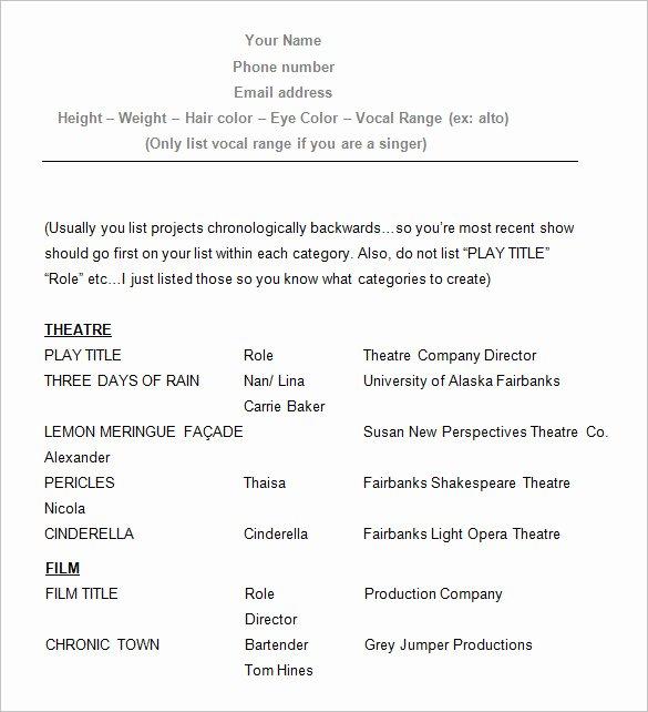 Beginner Actor Resume Template Elegant Homework Help In Las Vegas Nevada
