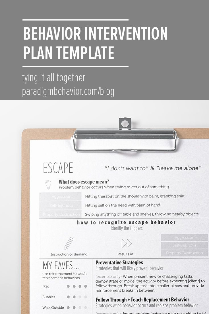 Behavior Intervention Plan Template Free Beautiful 287 Best Images About School Psych tools On Pinterest