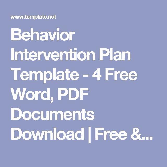 Behavior Intervention Plan Template Free Beautiful Best 25 Behavior Interventions Ideas On Pinterest