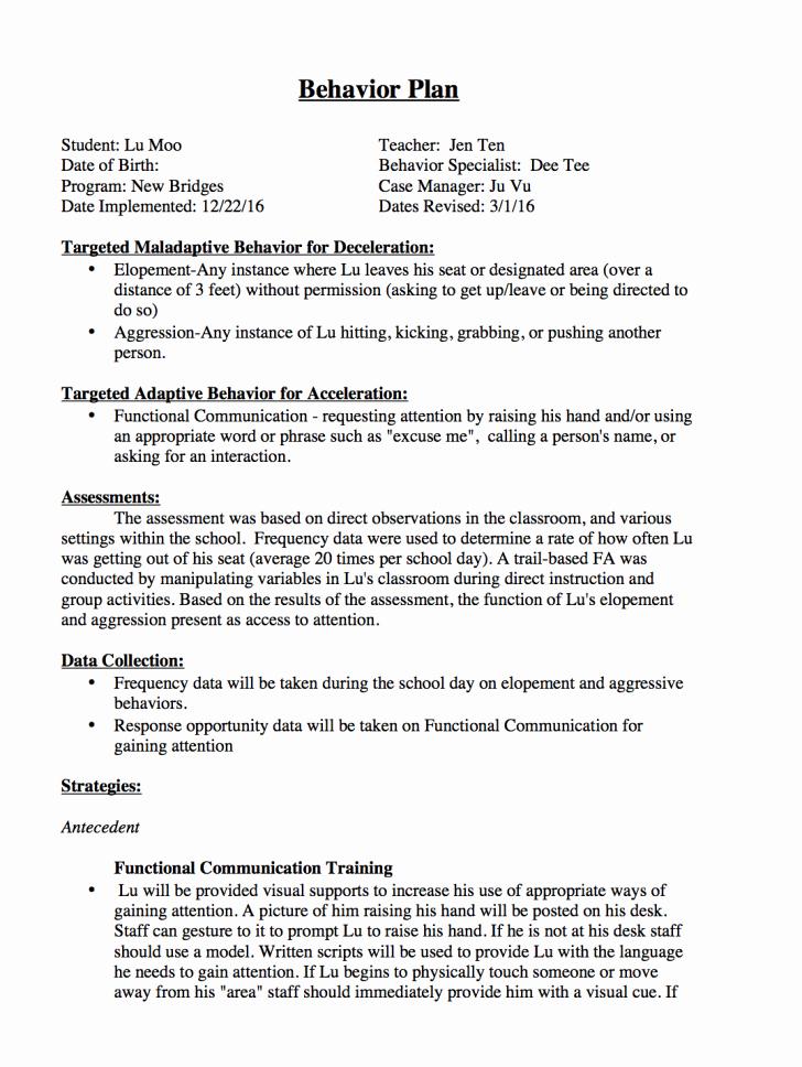 differential reinforcement aba behavior plan template pics x446