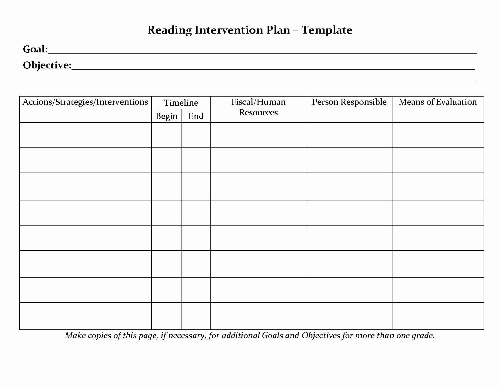 Behavior Intervention Plan Template Free Unique Student Planner Templates