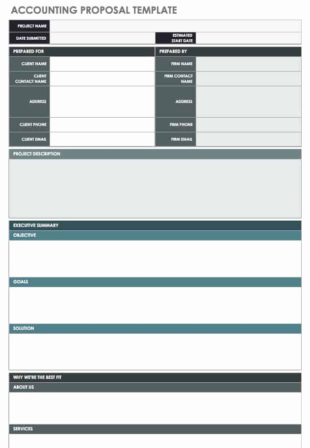 Bid Proposal Template Excel Beautiful 17 Free Project Proposal Templates Tips
