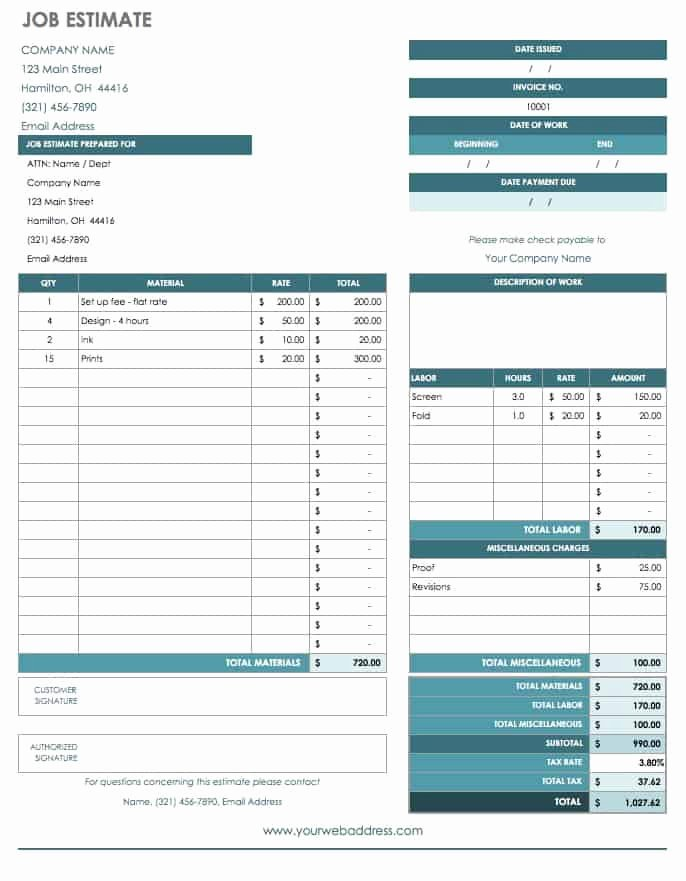 Bid Proposal Template Excel Beautiful Free Job Proposal Templates