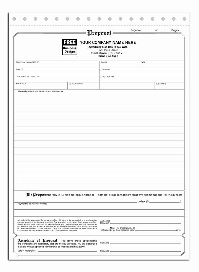 Bid Proposal Template Word Awesome Free Hvac Bid Proposal Template top Of Insurance