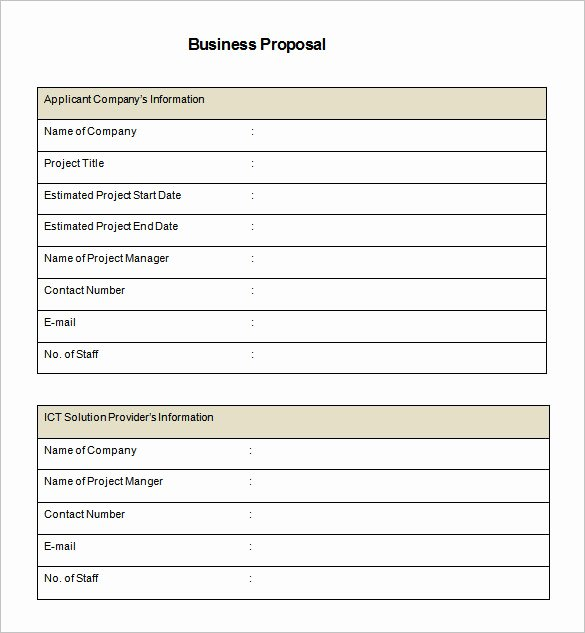 Bid Proposal Template Word Awesome Free Proposal Template