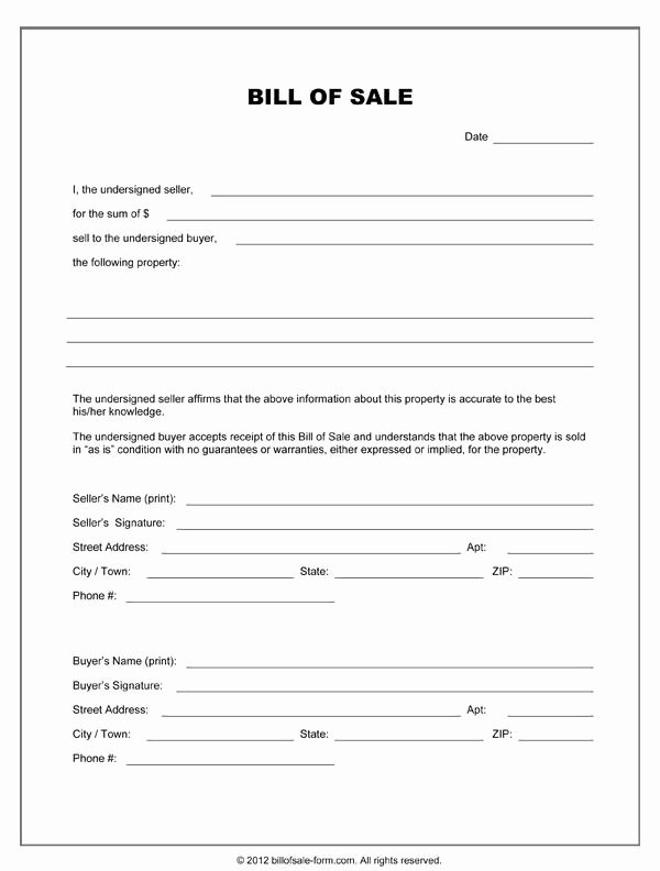 Bill Of Sale Word Template Elegant Printable Sample Equipment Bill Sale Template form