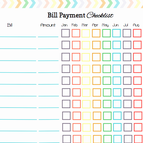 Bill Pay Calendar Template Beautiful Keep Your Bill Due Dates Straight with these Free Calendar