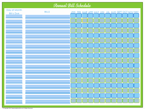 Bill Pay Calendar Template Inspirational Editable Bill Payment Schedule organizing Homelife