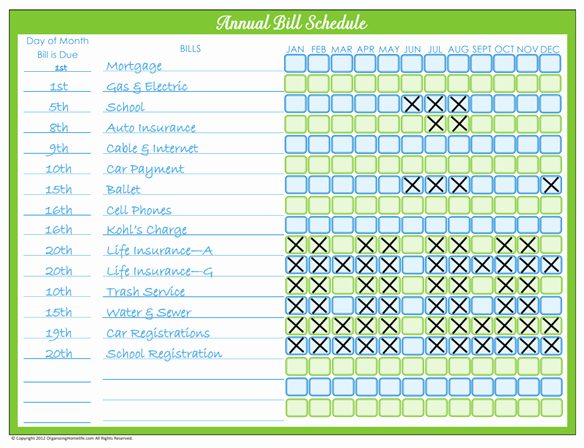 Bill Pay Calendar Template Lovely organize Monthly Bills On Pinterest