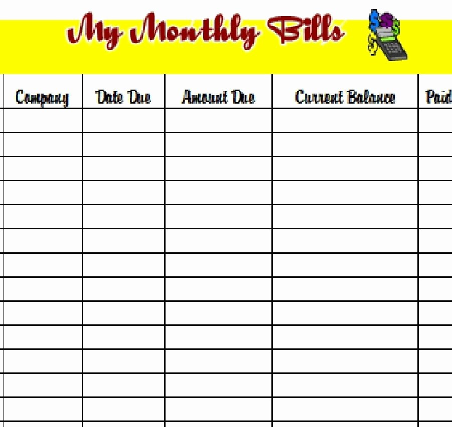 Bill Pay Schedule Template Lovely Download the Pdf Template and Keep Track Of Your Monthly