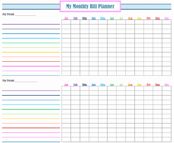 Bill Pay Schedule Template Lovely Monthly Bill Paying System