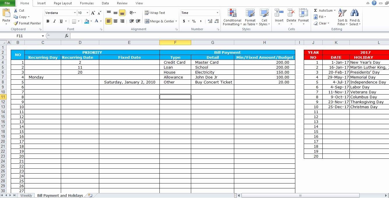Bill Paying Calendar Template Fresh Professional Bill Pay Calendar Template Excel Tmp