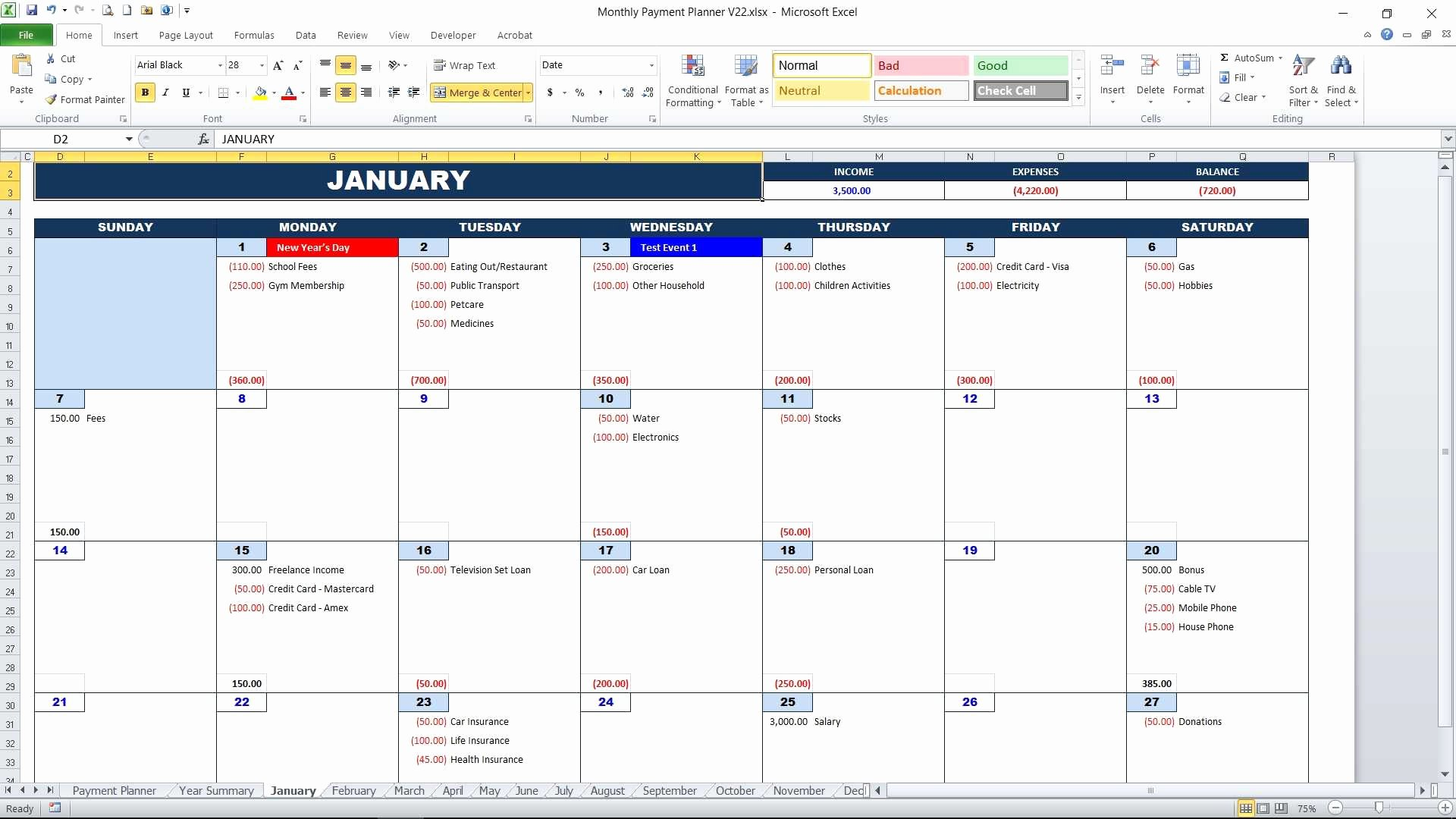 Bill Payment Calendar Template Awesome Bill Payment Calendar