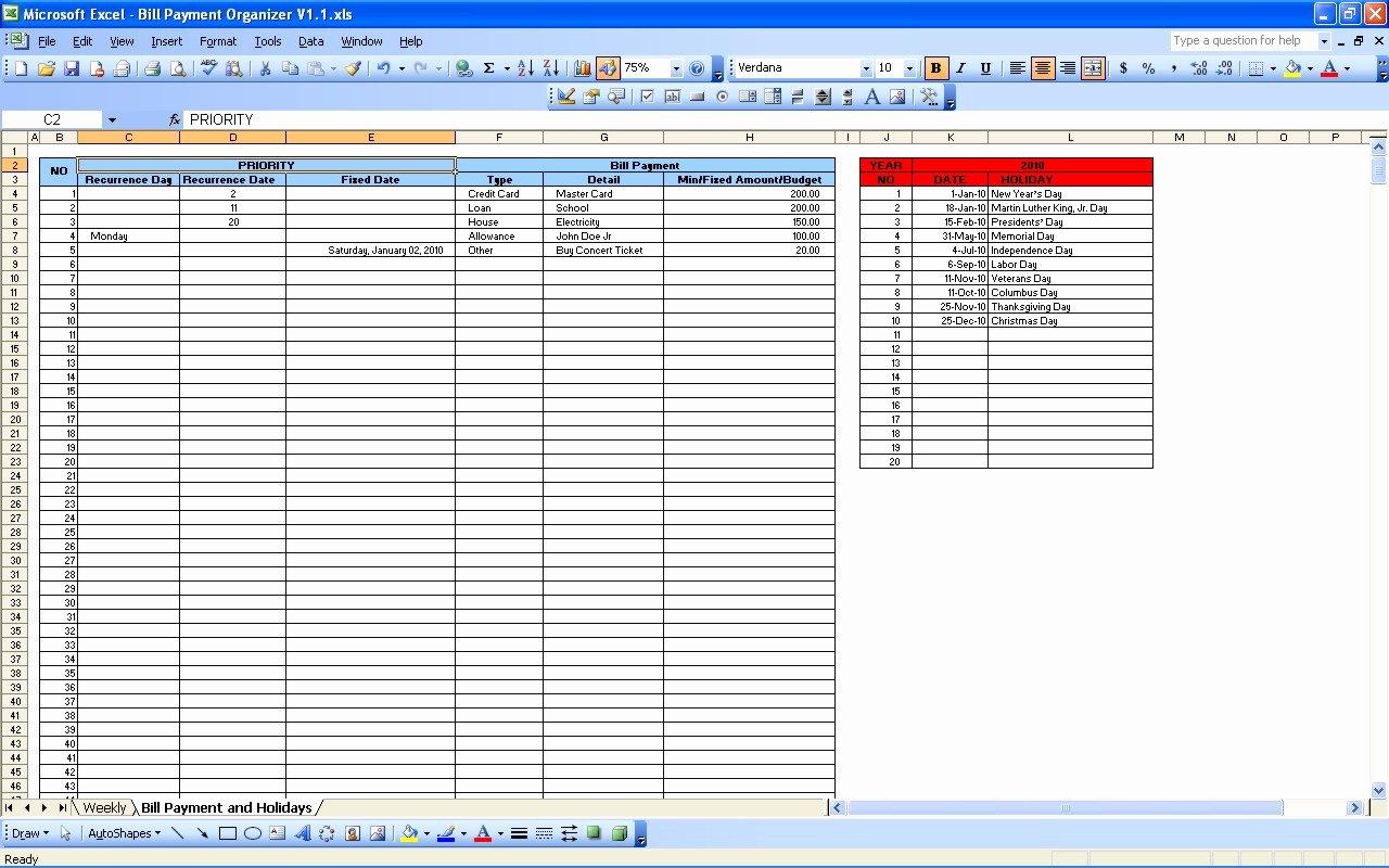Bill Payment Calendar Template Best Of Best S Of Monthly Bill Template Excel Monthly Bill