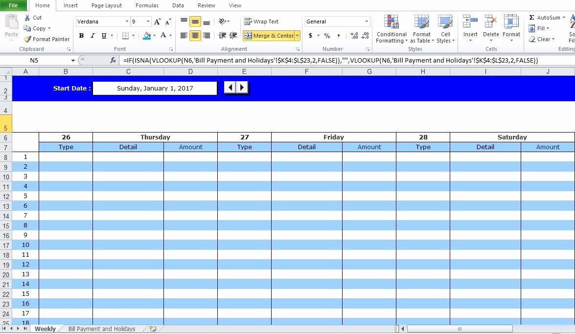 Bill Payment Calendar Template New Professional Bill Pay Calendar Template Excel Tmp
