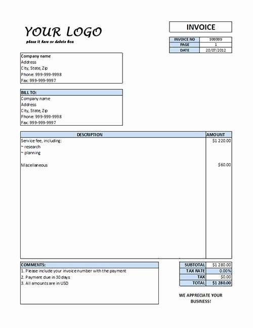 Billing Invoice Template Word Beautiful Free Downloads Invoice forms