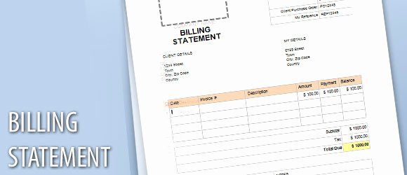 Billing Invoice Template Word Best Of Billing Statement Template for Word